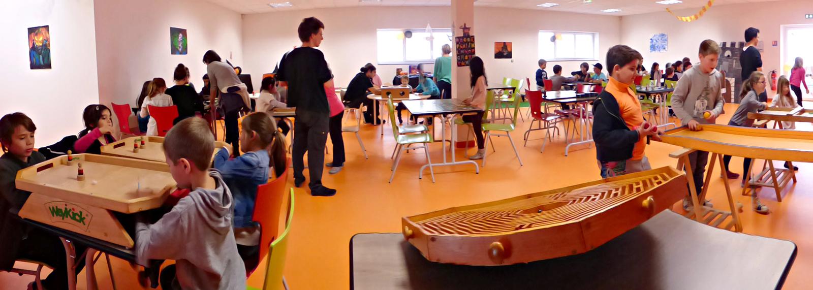 Salle d'animation et de soirées jeux de société de la Maison des Jeux à Aubière (en face du Leclerc au Sud de Clermont-Ferrand)